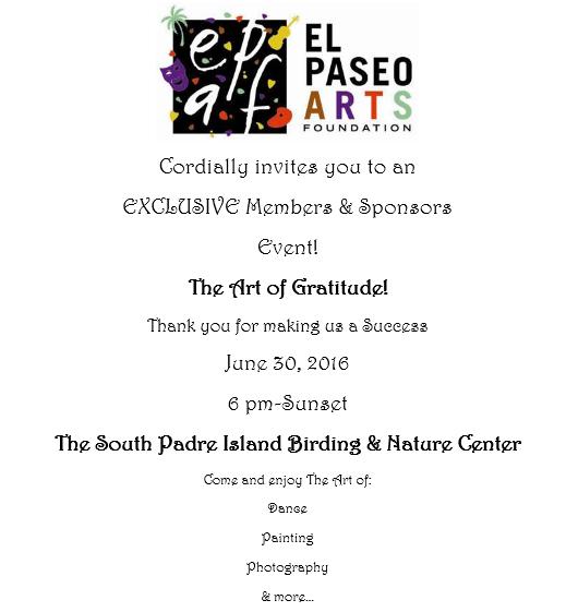El Paseo Birding Center Event